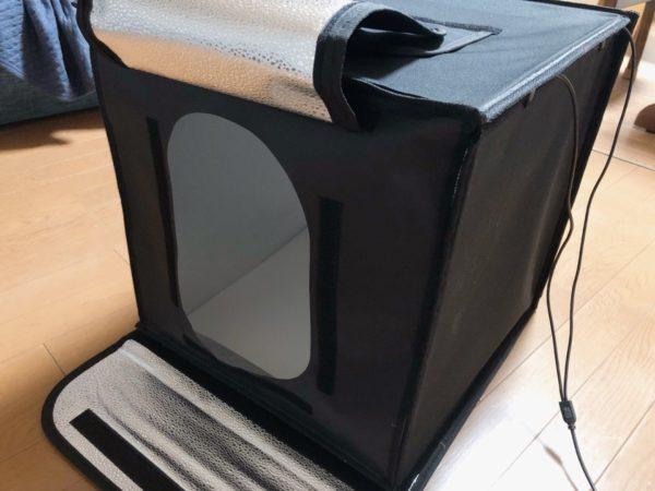 SAMTIAN 撮影ボックス 組み立て方 撮影用穴は大きくて撮りやすい