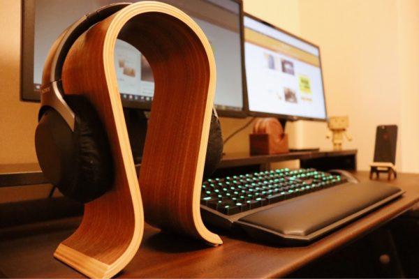 おしゃれ 木製雑貨 TCATEC 木製ヘッドホンスタンド