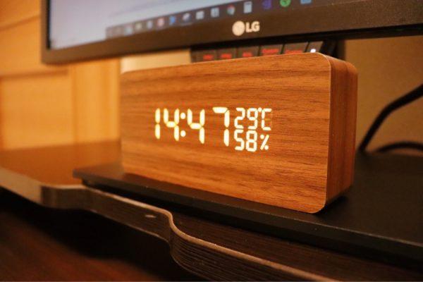 おしゃれ 木製雑貨 CosyLife 木目調置き時計