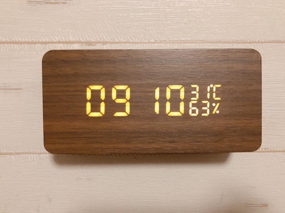 CosyLife 木目調置き時計 日付の設定方法