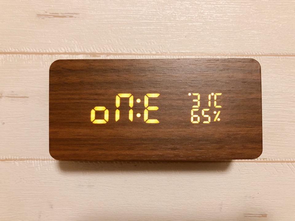 CosyLife 木目調置き時計 毎日アラーム設定可能