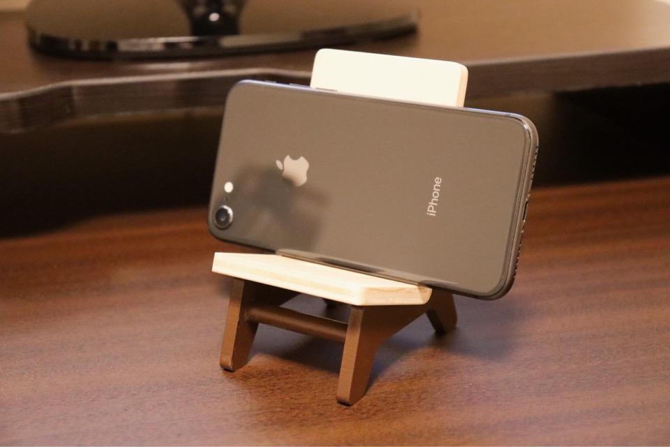 ヤマト工芸 chair holder 縦置きも可能だが、勿論横置きも出来る