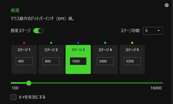 Razer ViperのDPIを変更するにはRazer Synapsが必要。普段使いでのおすすめDPIは1800